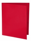 Two Pocket 3-prong Folder with Clear Front Outside Pocket RED