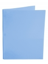 Two Pocket Folder with 3 -prong fasteners LT. BLUE