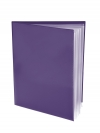 Pocket Folder with Clear Outside Pockets  and 6 Pages PURPLE