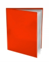 Pocket Folder with Clear Outside Pockets  and 6 Pages ORANGE