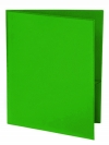 Two Pocket Folder with Clear Outside Pockets GREEN