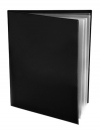 Pocket Folder with Clear Outside Pockets  and 4 Pages BLACK