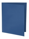Two Pocket 3-prong Folder with Clear Front Outside Pocket BLUE