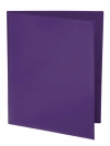 Two Pocket 3-prong Folder with Clear Front Outside Pocket PURPLE