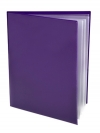 Pocket Folder with Clear Outside Pockets  and 4 Pages PURPLE