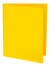 Two Pocket 3-prong Folder with Clear Front Outside Pocket YELLOW