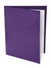 Pocket Folder with Clear Outside Pockets  and 2 Pages PURPLE