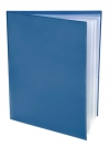 Pocket Folder with Clear Outside Pockets  and 4 Pages BLUE