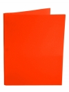 Two Pocket Folder with 3 -prong fasteners ORANGE