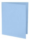 Two Pocket 3-prong Folder with Clear Front Outside Pocket LT. BLUE