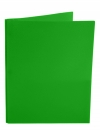 Two Pocket Folder with 3 -prong fasteners GREEN