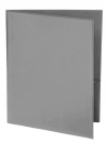 Two Pocket 3-prong Folder with Clear Front Outside Pocket GREY