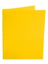 Two Pocket Folder with 3 -prong fasteners YELLOW