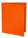 Two Pocket 3-prong Folder with Clear Front Outside Pocket ORANGE