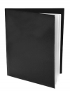 Pocket Folder with Clear Outside Pockets  and 2 Pages BLACK