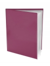 Pocket Folder with Clear Outside Pockets  and 6 Pages BURGUNDY