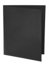 Two Pocket Folder with Clear Outside Pockets BLACK
