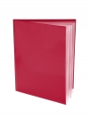 Pocket Folder with Clear Outside Pockets  and 6 Pages RED