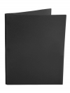 Two Pocket Folder with 3 -prong fasteners BLACK