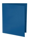 Two Pocket Folder with Clear Outside Pockets BLUE