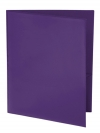 Two Pocket Folder with Clear Outside Pockets PURPLE