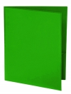 Two Pocket 3 prong Folder with Clear Front Outside Pocket GREEN