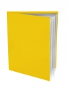 Pocket Folder with Clear Outside Pockets  and 6 Pages YELLOW