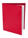 Pocket Folder with Clear Outside Pockets  and 2 Pages RED