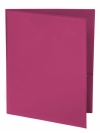 Two Pocket Folder with Clear Outside Pockets BURGUNDY