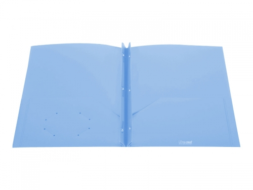 Two Pocket 3-prong Fastener Folder with Clear Front Pocket